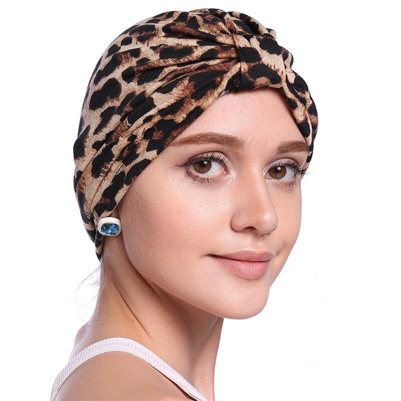 Babalet Wanita Elegant Soft bernafas Floral Leopard Chemo Cancer - Pakaian kebangsaan - Foto 4