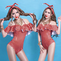 2017 Ds costume dj singer stage clothing sexy ruffle strapless twirled nightclub dancer costumes