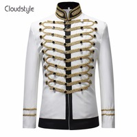 Cloudstyle 2018 Male Single Breasted Suit Jacket Men Military Stage Suit Fashion Drama costume Party Blazer Men Plus Size 5XL