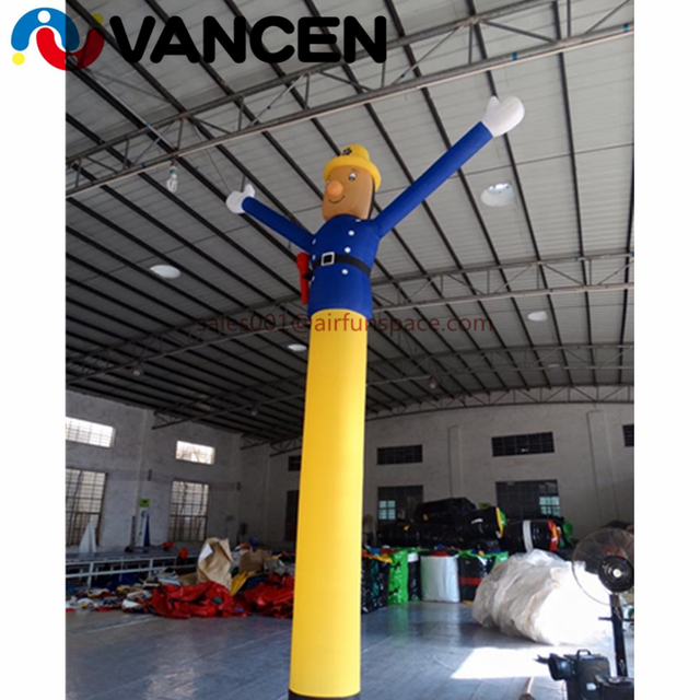 VANCEN cartoon inflatable air man 6m high inflatable chef air dancer promotional inflatable sky dancer for advertisement