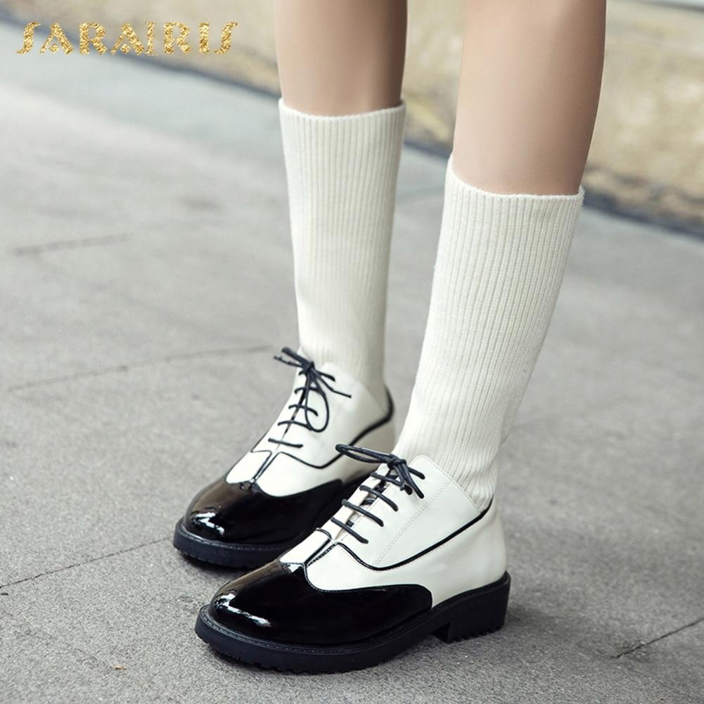 SARAIRIS 2018 marque grandes tailles 33-43 chaussures pour femmes en cuir véritable chaussettes bottes automne hiver bottes femme chaussures de loisirs