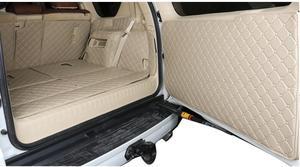 Image 2 - Volledige set kofferbak matten & back deur mat voor Toyota Land Cruiser Prado 150 7 zetels 2018 2010 cargo liner boot tapijten