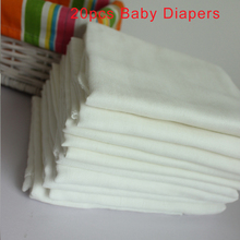 Double Layers 20PCS Baby Cloth Diapers White Color Soft Gauze Cotton Nappy Inserts Reusable Breathable Newborn Nappies Changing reusable baby gauze diapers cloth breathable printed diaper inserts 1piece 10 layer 100