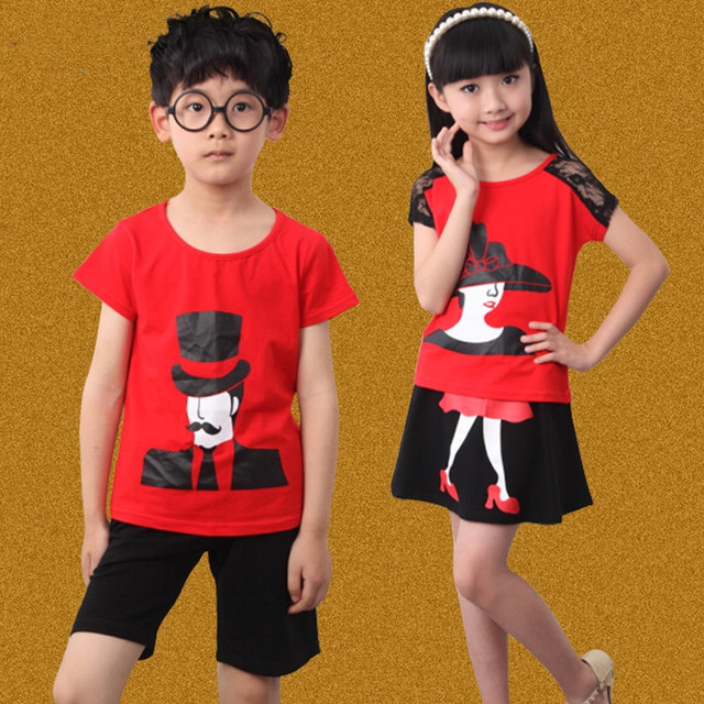 908f79c0b3f Children s clothing boys girls child summer 2016 child sports set big boy summer  kids clothes kindergarten school uniform