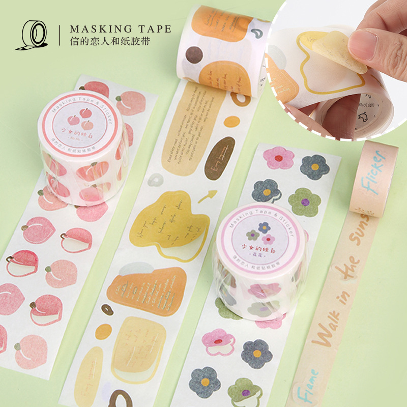 5M Girls Monologue Series Cute Washi Tape Masking Tape Journal Supplies Scrapbooking Paper Stationary