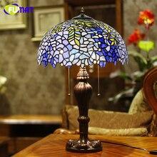 Стеклянные настольные лампы FUMAT, европейский стиль, винтажная Роскошная Wistaria, настольная лампа для гостиной, отеля, свадебная лампа, Декор, светодиодный Настольный светильник