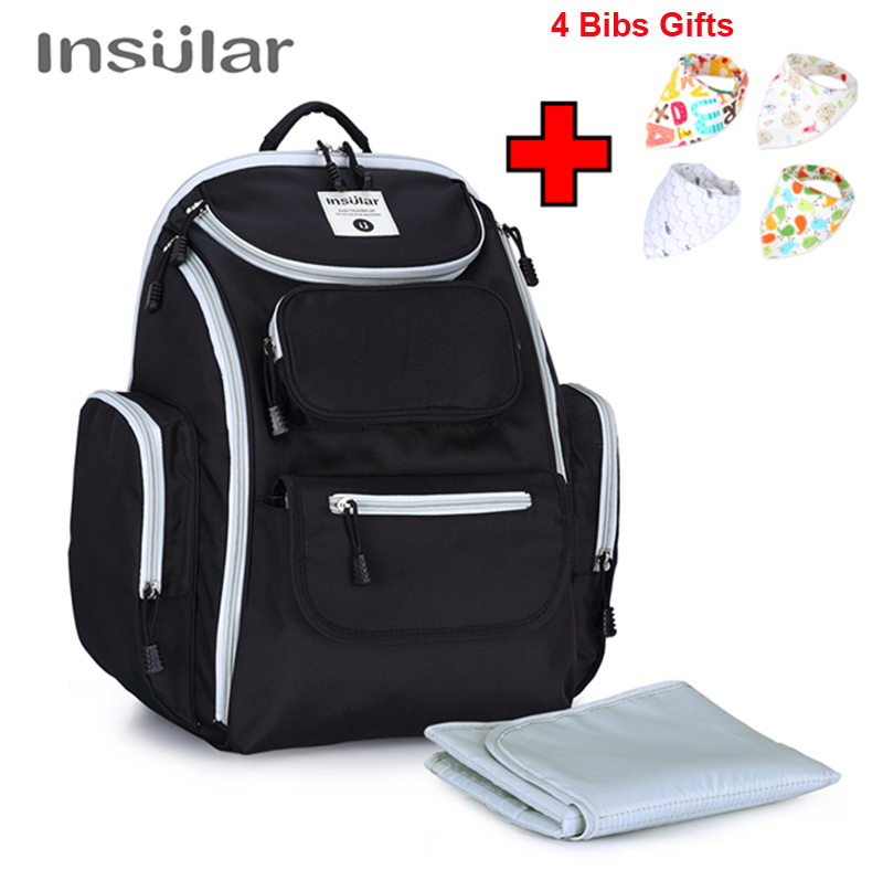 INSULAR Waterproof Nylon Baby Diaper Backpack Mommy Maternity Nappy Changing Bag Nursing Mother Bags Mum Stroller Bag For Baby insular multifunctional bolsa maternidade baby diaper bag for mum nappy bag for stroller maternity bag lady handbag backpack