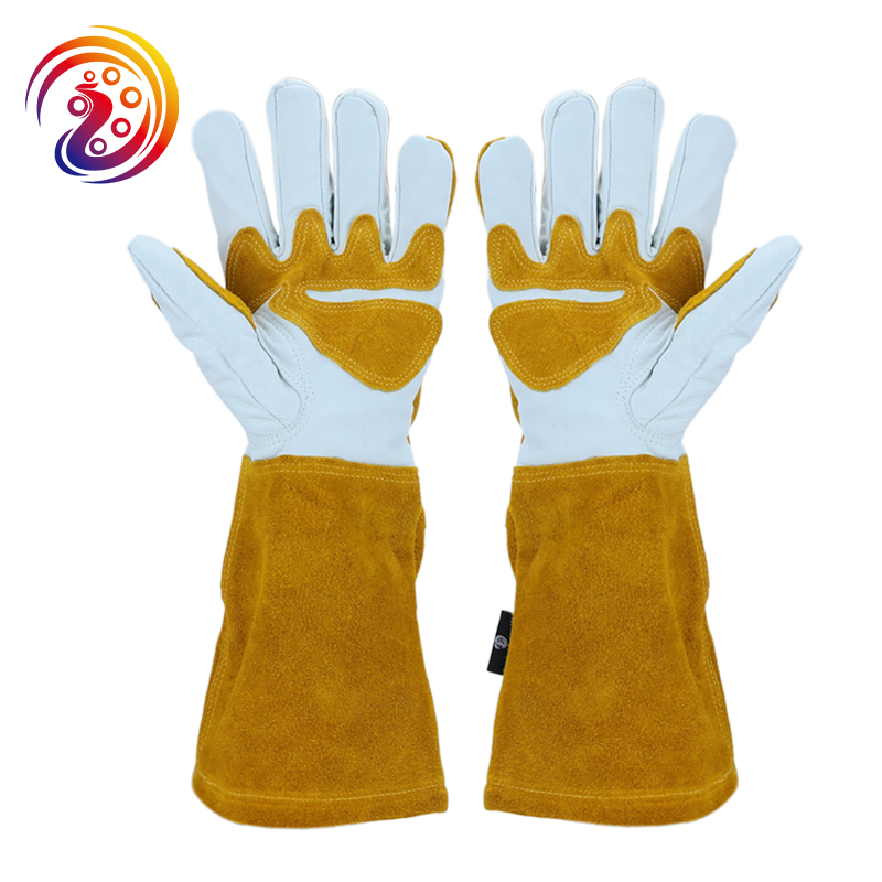 Image 4 - Summer Gardening Rose Pruning Gloves Cowhide Leather & Split Leather Safety Gloves Women and Men Welding Glove HY040safety gloves leatherindustrial safety glovessafety gloves -