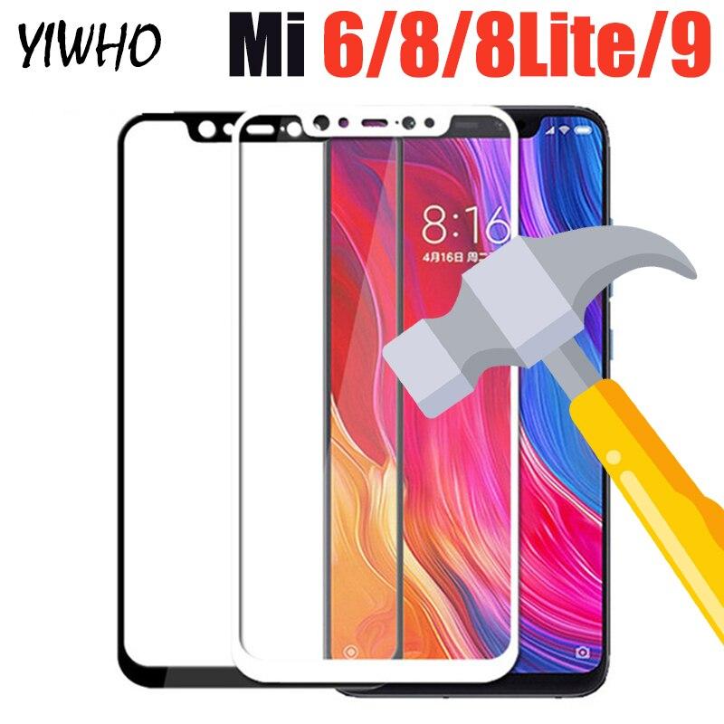 Mi9 Mi8 Mi6 Tempered Glass For Xiaomi Mi 9 Protective on 8 Lite 8lite Screen Protector Xiomi Xaomi Ksiomi Film