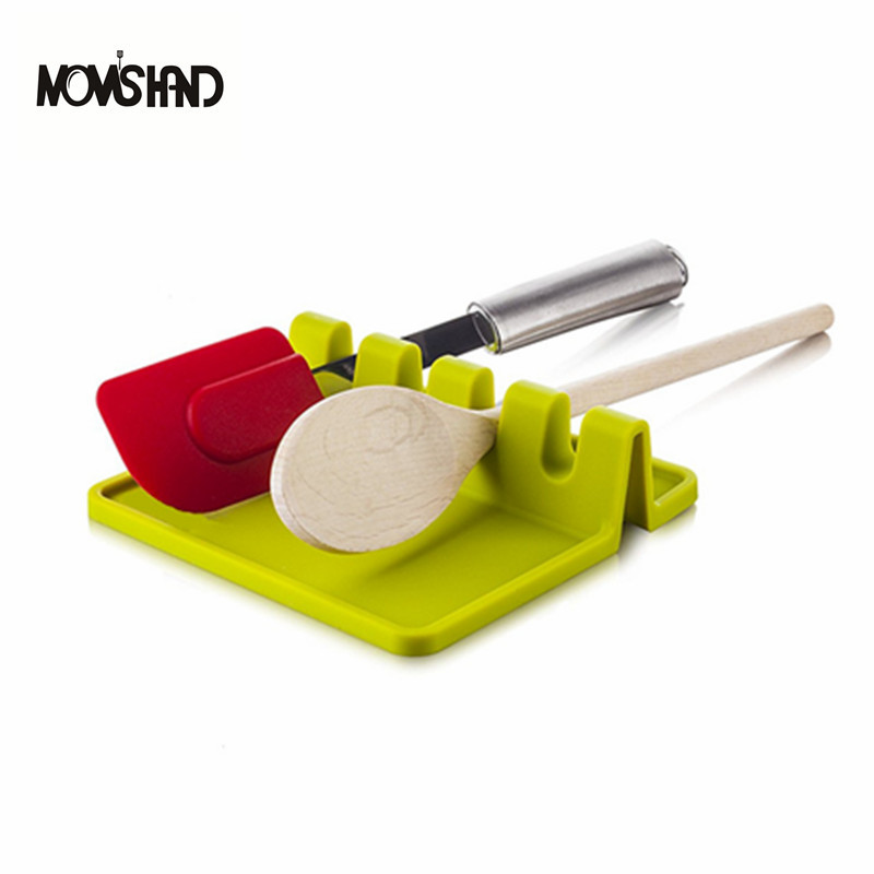 US $3.9 61% OFF|MOM\'S HAND Kitchen Cooking Tools Kitchen Silicone Spoon  Rest Utensil Spatula Holder Heat Resistant-in Spoon Rests & Pot Clips from  ...