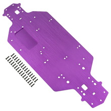1set Metal Chassis Replacement For 1/10 Electric Rc car Redcat Truck Monster lesu cnc metal chassis rail for 1 14 model rc hino 8 8 hydraulic dumper truck