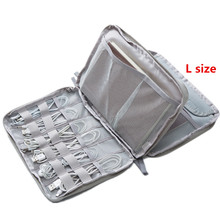 Travel Passport Pokrowce torba portfel przenośny USB Data ładowania przewód Storage etui torba Organizer duża pojemność akcesoria torba tanie tanio Akcesoria podróżne 19cm Portfele paszportowe 0 26 kg w Oxford z bocian 26CM Stałe 3 cm Tylko L rozmiar jest podwójna warstwa