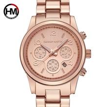 2019 HM New Rose Gold Women Watch Business Quartz Ladies Top Brand Luxury Female Wrist Girl Clock Relogio Feminin