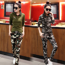 Hot Sale Women Polo Shirts Cotton Slimming Long Sleeve Camouflage Polos Raph Female Green Clothing Plus Size