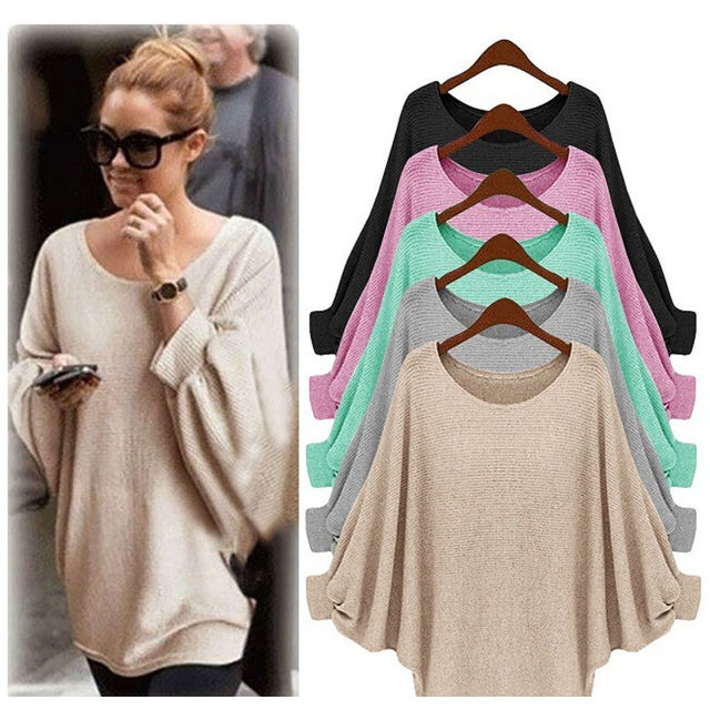 80bbff13 Women Lady Clothing Tops Oversized Loose Long Sleeve Shirt Ladies Baggy  Tops Casual Clothes Batwing Women