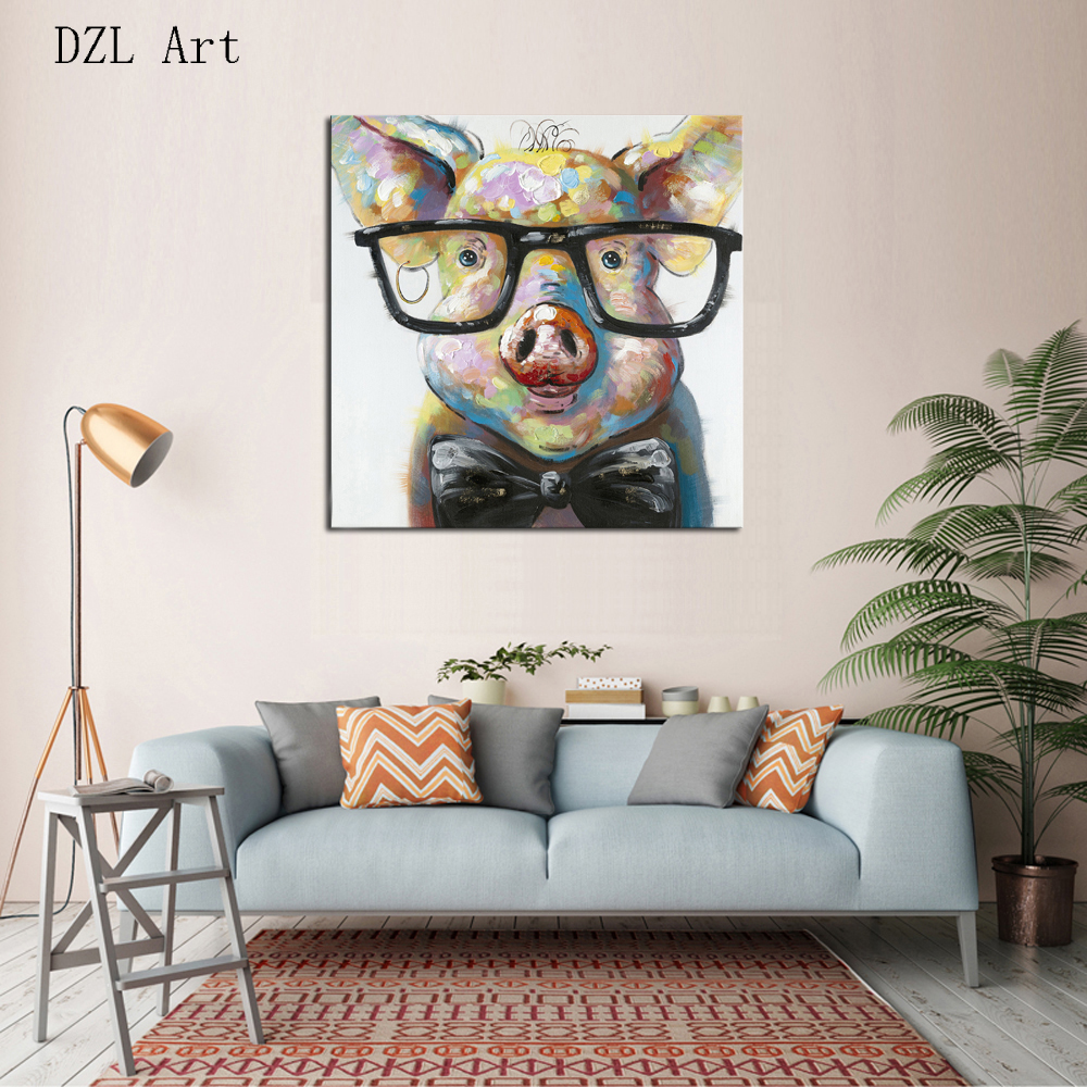 compare prices on art pig online shoppingbuy low price art pig  -  piece living room bedroom modern home art decoration pigs lovely canvaspaintingwall painting