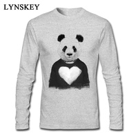 Lovely Panda T Shirt White Autumn Tops Tees Men S Cute Cartoon 3D Print Long Sleeve