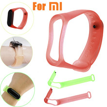 New Transparent Clear Soft Silicone TPE Unique Replacement Wristband Adjustable Strap For Xiaomi Mi Band 3 Accessories