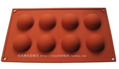 8C Silicone Half round dome Cake Chocolate Soap Pudding Jelly Candy Ice Cookie Biscuit Mold Mould Pan Bakeware Wholesales