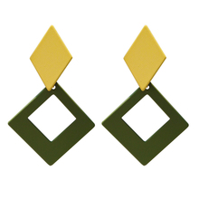 Ms earrings creative candy color contracted frosted geometry Exquisite fashion wholesale
