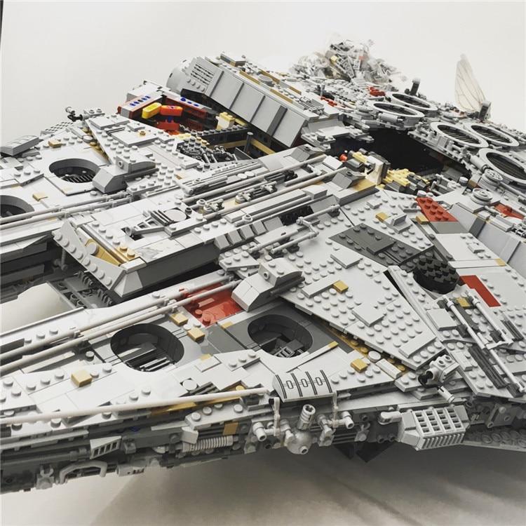 Millennium Falcon Lepin8445pcs Compatible 75192 Star wars Series Ultimate Collectors Model Building Bricks Toys 23
