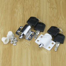 Silver or White 5 Sets/lot sliding door window lock with key child safety protection anti-theft push KF1072