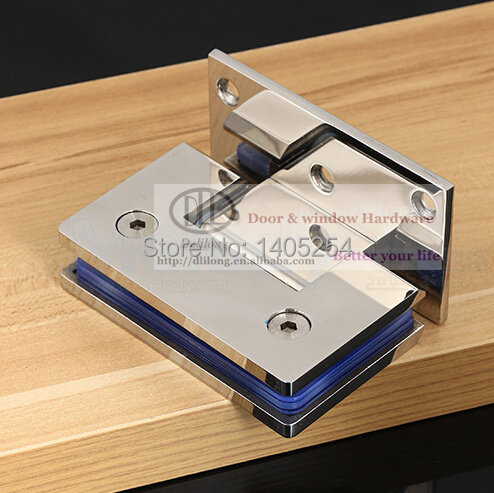 Permalink to Stainless steel 304 bathroom glass clamp 90 degrees glass shower hinge 8-12MM thick tempered glass  shower room accessories