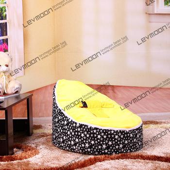 FRETE GRÁTIS feijão bebê tampa saco com 2 pcs ouro para cima da tampa do bebê tampa de assento do saco de feijão cadeira do saco de feijão bebê crianças cadeira sofá preguiçoso