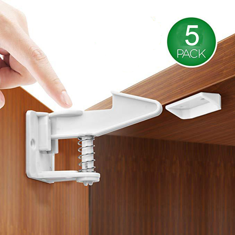 4 x Safety Child Infant Baby Kids Invisible Drawer Door Cabinet Toddler Locks