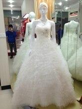 bride gown casamento bandage dress vestido de noiva renda 2016 new fashionable ball long wedding Dress bridal free shipping