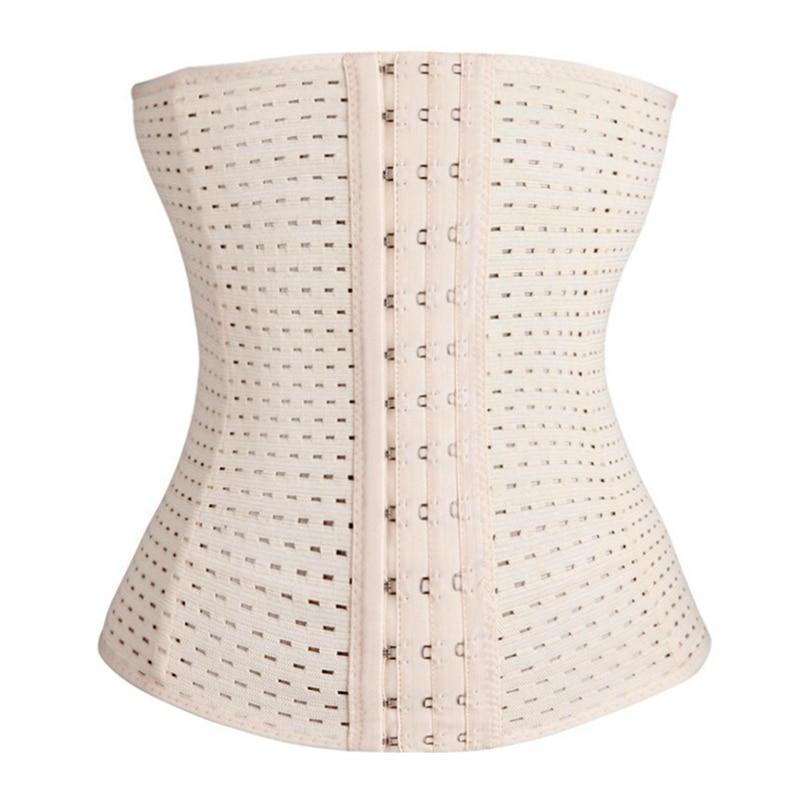 Skin and black color hollow out the corset belt Women Waist  Waist Belt Underbust Corset Body Shaper