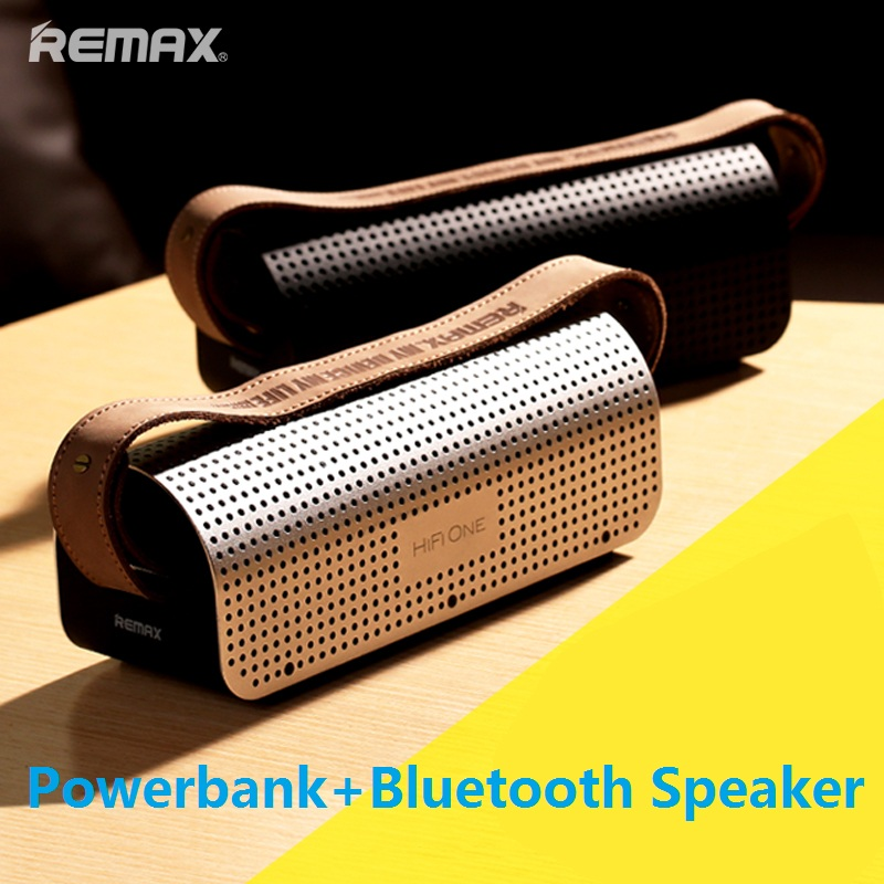 REMAX RB-H1 H1 Desktop brand Bluetooth speaker Portable Wireless speaker 3D stereo bass surrounded sound NFC Micro SD Power Bank solo one wireless bluetooth speaker vogue wooden nfc stereo super bass desktop speaker touch button for ios smartphone tablet pc