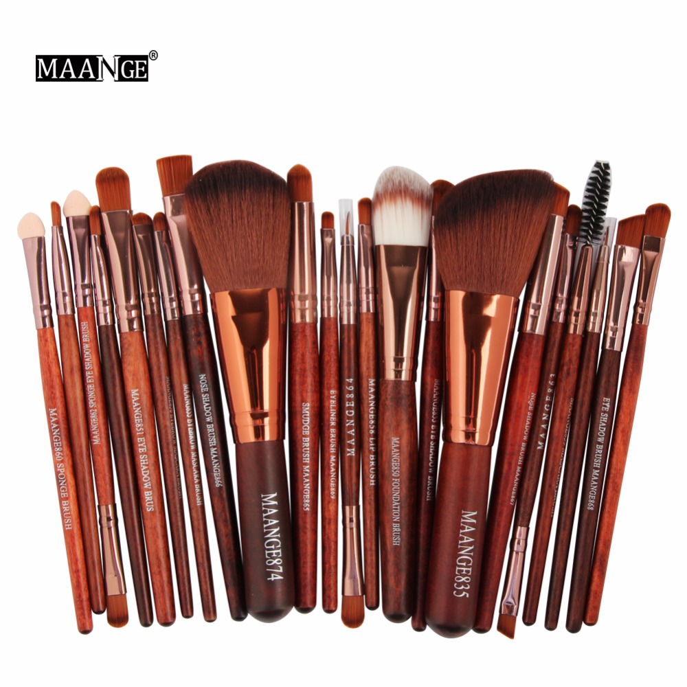 MAANGE 22Pcs New Pro Powder Foundation Eyeshadow Eyeliner Lip Cosmetic Makeup Brushes Set Kit Beauty Tools  #237989 new 32 pcs makeup brush set powder foundation eyeshadow eyeliner lip cosmetic brushes kit beauty tools fm88