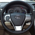 Steering Wheel Leather Covers Case for Toyota CAMRY 2012 Camry Sports Genuine Leather DIY Hand-stitched Car-styling