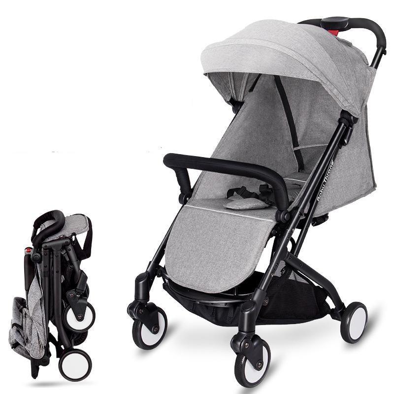 2017 Brand New 4 in 1 Newbore Umbrella Pram Lightest Portable Baby Strollers Four Wheels Anti-Shock One Key Folding Cart