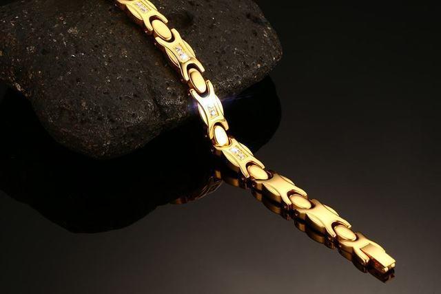 Женский браслет из нержавеющей стали с фианитами ювелирное изделие