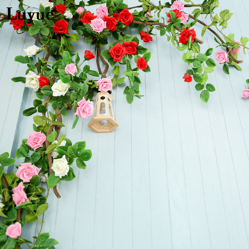 Luyue 175cm Silk Artificial Rose Flower Vines Wedding Party Decoration Simulation Fake Peony Flowers Hanging Rattan Garland Delicious In Taste Artificial Decorations