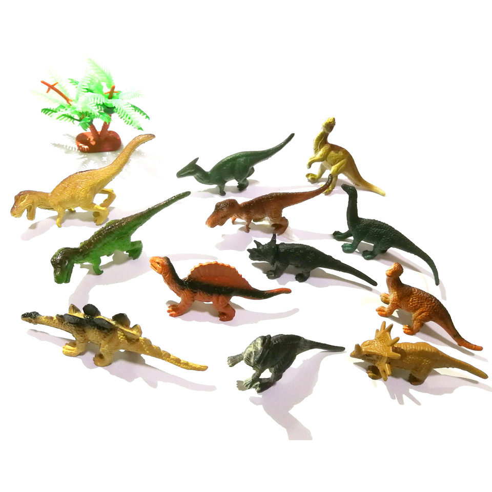 WITHYOU 12pcs/set Plastic Mini Dinosaur Toy Model Ocean Sea Animal Action Figures 23