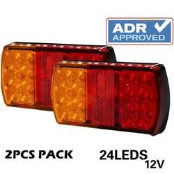 2 шт. 12 В светодиодный 24 светодиодный Автомобильный светодиодный грузовик светодиодный задний фонарь предупреждающие огни задние лампы