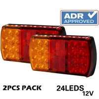 1 pair12V Waterproof Durable Car Truck LED Rear Tail Light Warning LightsTurn Signal Lights fit for Trailer Caravans Campers ATV