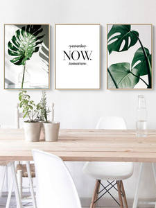 Posters Prints Painting Wall-Pictures Leaf Art Plant Living-Room Art-Zone Nordic Canvas