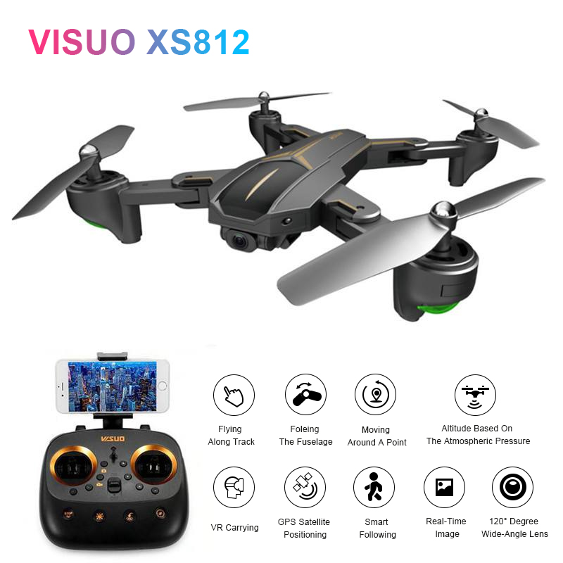 Eachine VISUO XS812 GPS 5G WiFi FPV W/ 2MP/5MP HD Camera 15mins Flight Time Foldable RC Drone Quadcopter RTF Kids Birth Gift