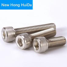 цена на DIN912 Hex Head Socket Cap Screws Hexagon Thread Metric Machine Allen Bolt 304 Stainless Steel M6