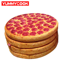 Creative Simulation Pizza Round Seat Cushion Plush Toys Decorative Pillows Home Textile Wholesale Bulk Lots Accessories
