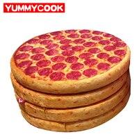 Simulation Pizza Ronde Siège Coussin Jouets En Peluche Oreillers Décoratifs Accueil Textile En Gros Lots En Vrac Accessoires Fournitures