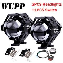 WUPP 1 шт 125 W moto rcycle фар moto светодиодные фонари moto rbike алюминия лампы U5 12 V прожектор аксессуары противотуманная фара Свет