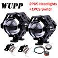 WUPP 1PCS 125 W Motorcycle Headlight Moto led lights motorbike aluminum lamp U5 12V spotlight accessories spotlight Fog light