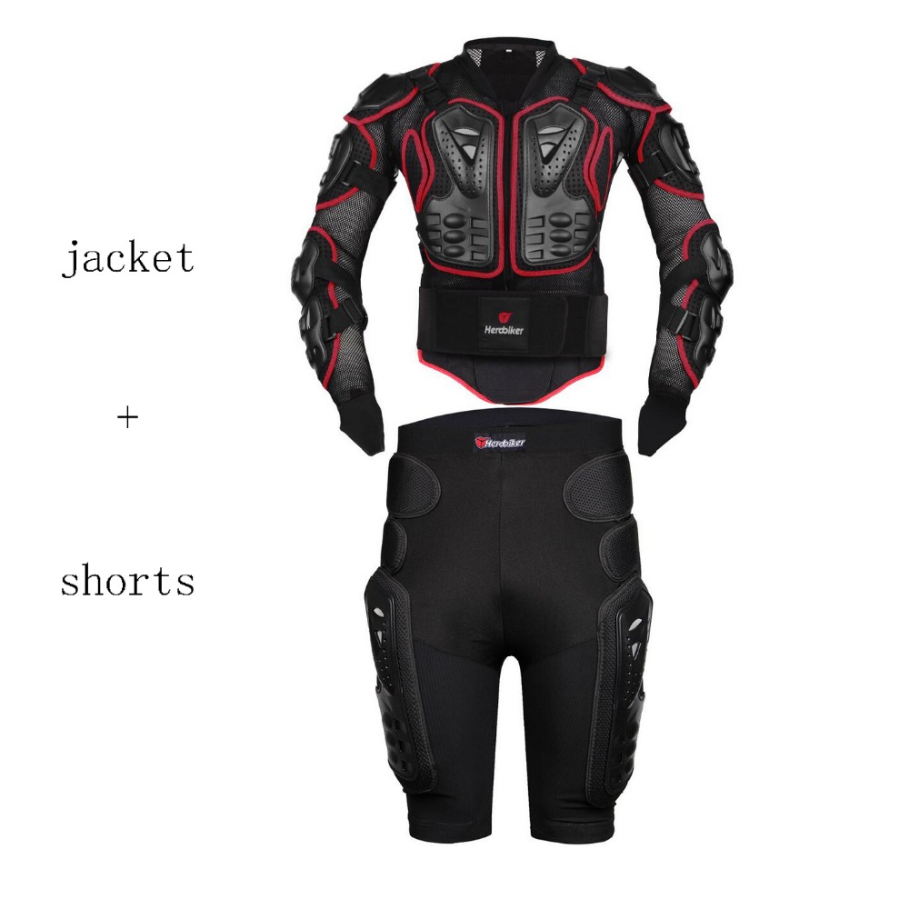 Free shippingHEROBIKER Motorcycle Motocross Enduro ATV Racing Full Body Protective Gear Protector Armor Jacket + Hip Pads Shorts herobiker motorcycle riding armor jacket knee pads motocross off road enduro atv racing body protective gear protectors set