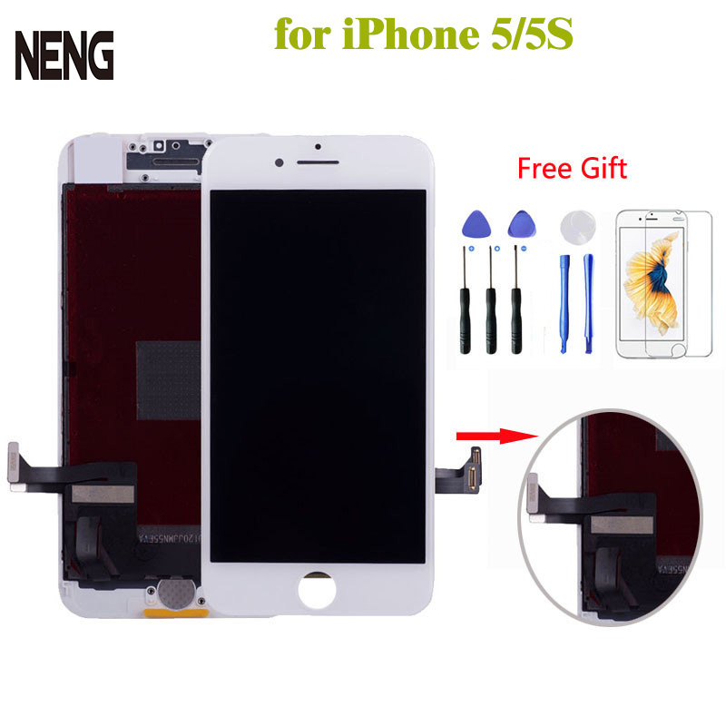 AAA LCD Touch Screen Full set For iPhone 5 5S 5C SE LCD Display Assembly With Digitizer Glass No Dead Repair Part Black White ...