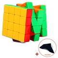 Professional Speed Fantasy 4x4x4 Magic Cube Keyring Puzzle Keychain Speed Toy Three Layers 4*4 Magic Cubes Brain Teaser Gift